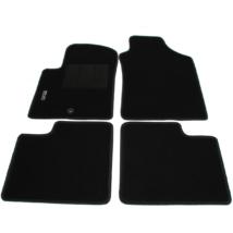 Fiat 500 Gyári Új szőnyeg szett Szövet Fekete fehér 500 emblémával 71807957 4 darabos