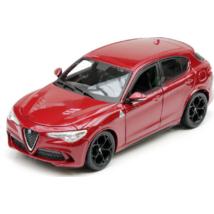 Alfa Romeo Stelvio QV 1:24 modellautó Burago Fém Nyitható Új Dobozos
