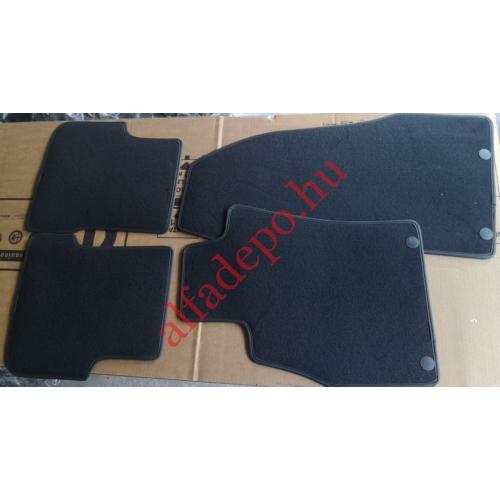Alfa Romeo MiTo Gyári Új szövet szőnyeg szett 156087994 Fekete 2 patentos